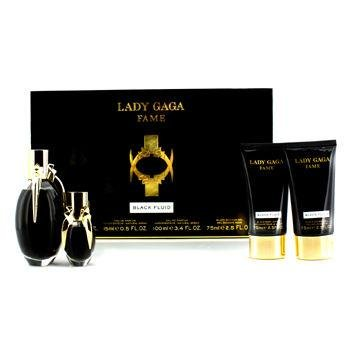 Lady Gaga Fragrance Collection: Fame Black Fluid 4 Piece Gift Set